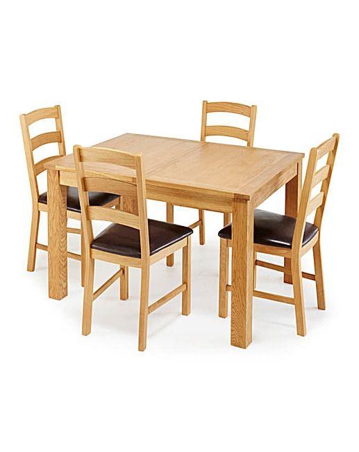 Harrogate Oak Extending Dining Table
