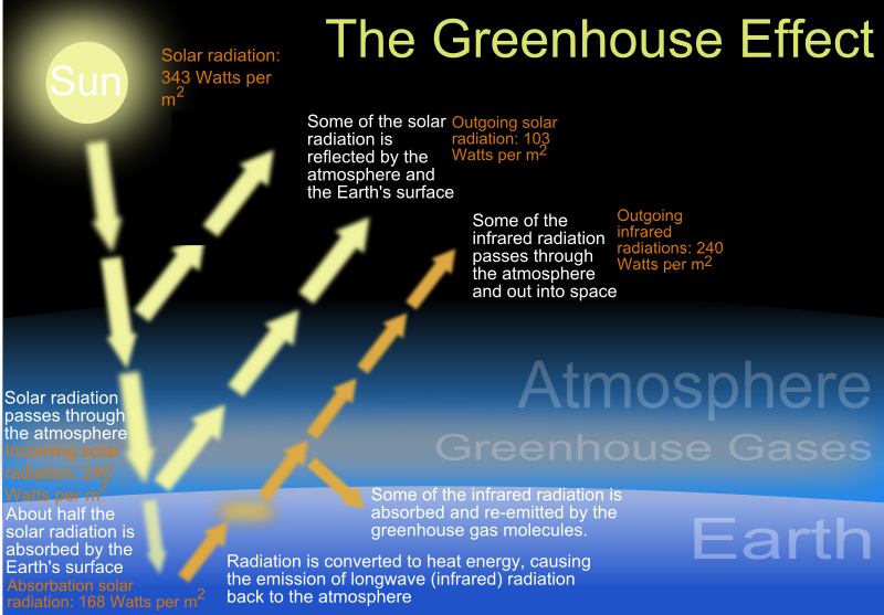 the greenhouse effect is a process by which solar radiation is  the greenhouse effect is responsible for global warming an increase in global surface temperatures