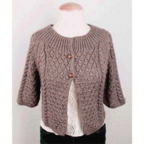 Mary Maxim - Free Cropped Jacket Knit Pattern - Free Patterns - Patterns &...