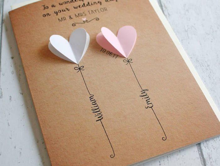 ▷ 1001 + DIY Ideen und Anleitungen zum Hochzeitskarte basteln #personalizedwedding