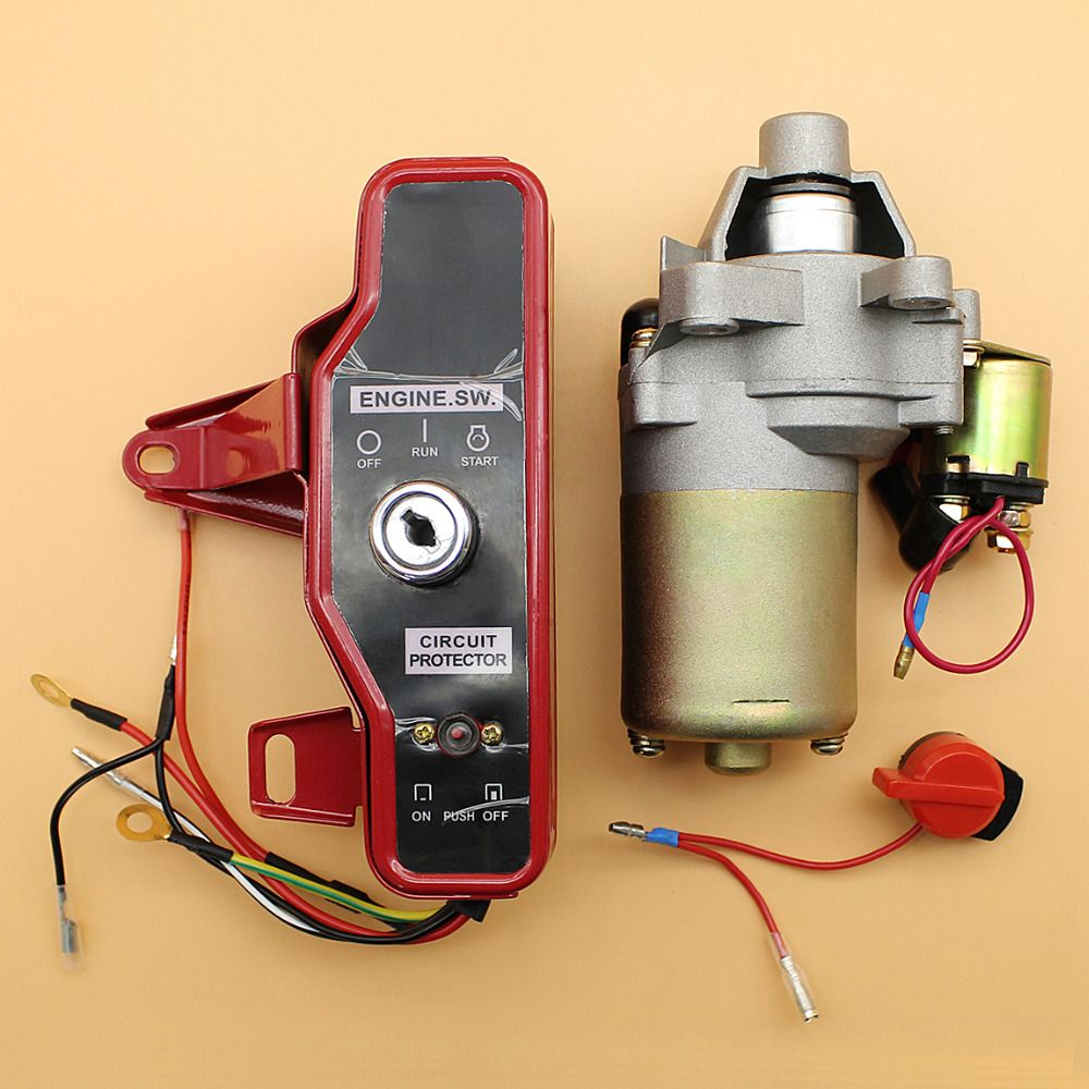 Starter Motor Ignition Switch Control Box Key Kit Fit Honda Gx160