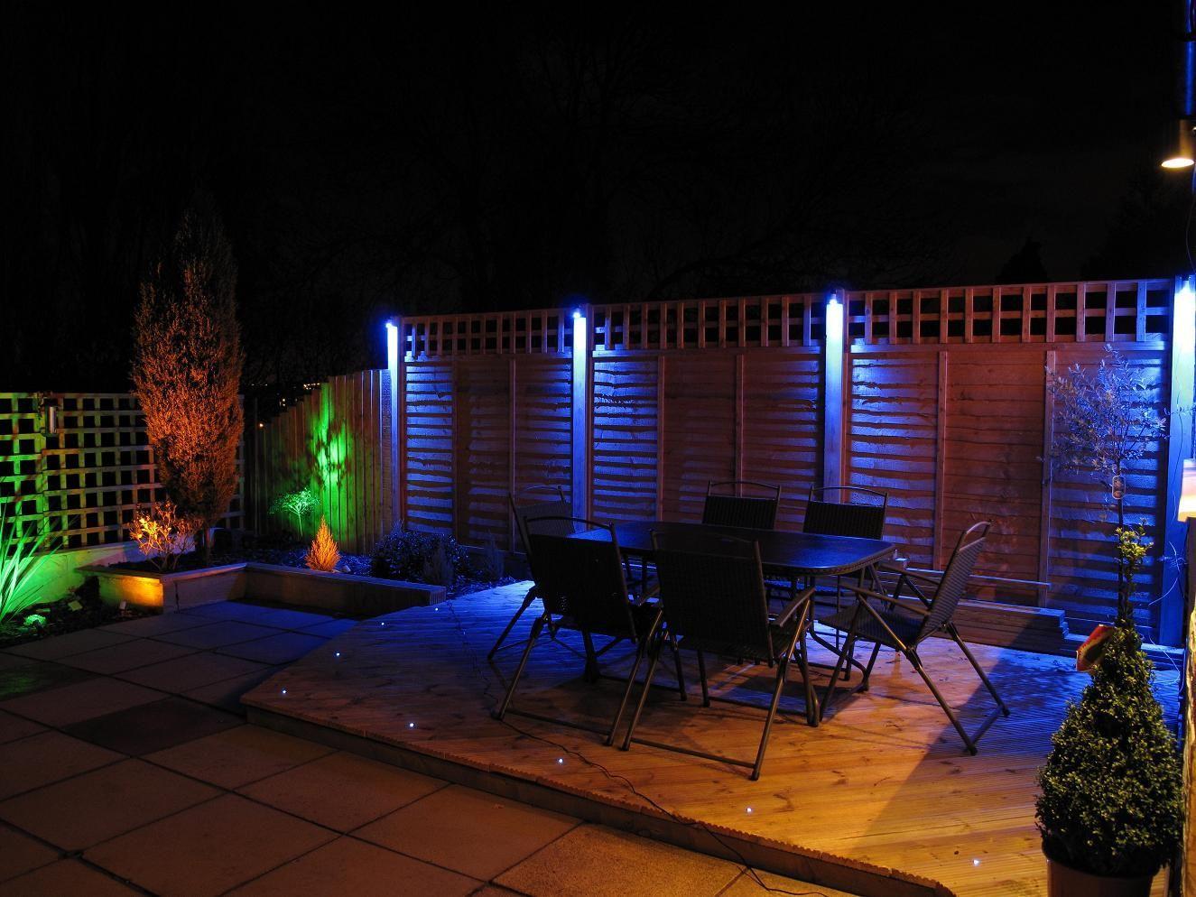 Blue Led Outdoor Spotlights Outdoor Lighting Ideas Landscape Lighting Design Backyard Lighting Garden Lighting Design