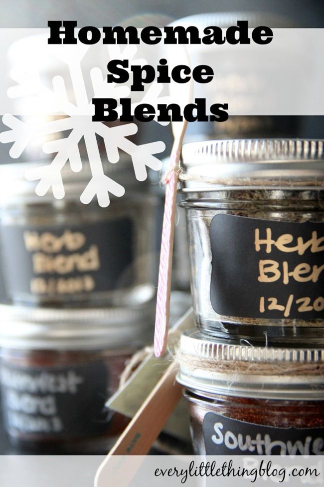 Homemade Spice Blends | everylittlethingblog.com