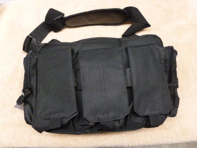 Bail Out Bag Shoulder Pack Survival Tactical Shooting Military Range  Black NWT