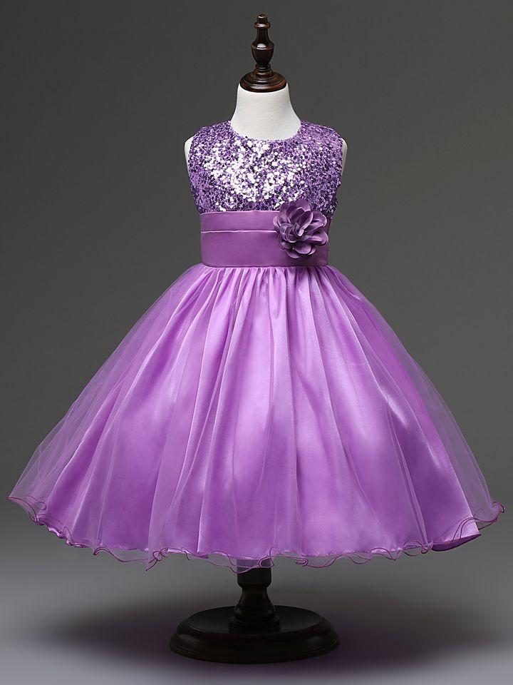 Vestido para niñas banquete de boda de la bola de la flor del verano ...