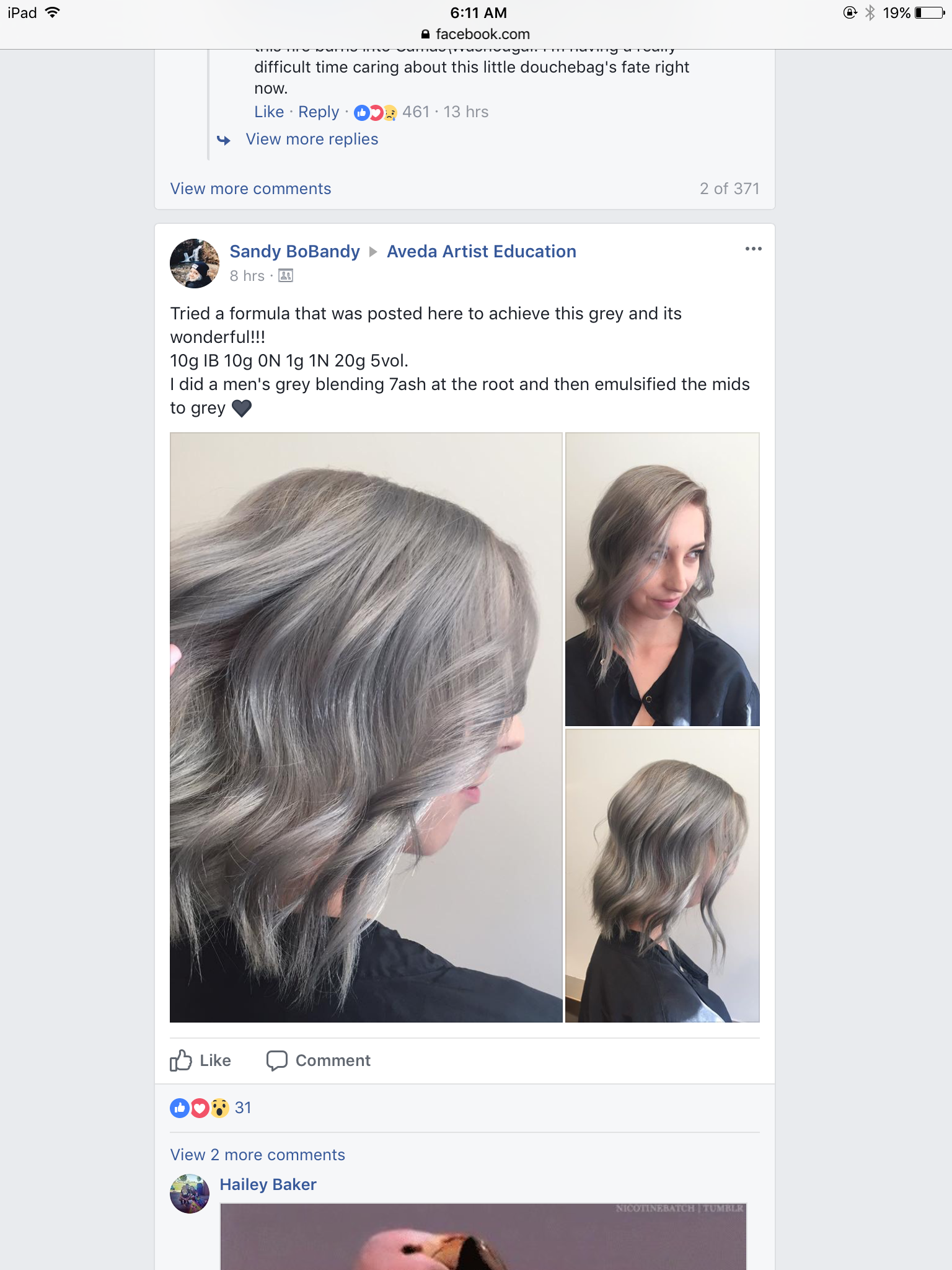 Formula Hair Color