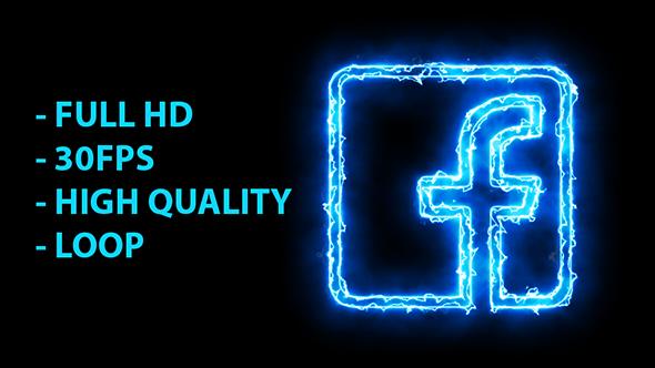 Blue Electric Facebook Icon Facebook Icons Logo Facebook Electric Icon