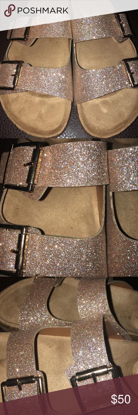 madden girl sparkly birkenstocks