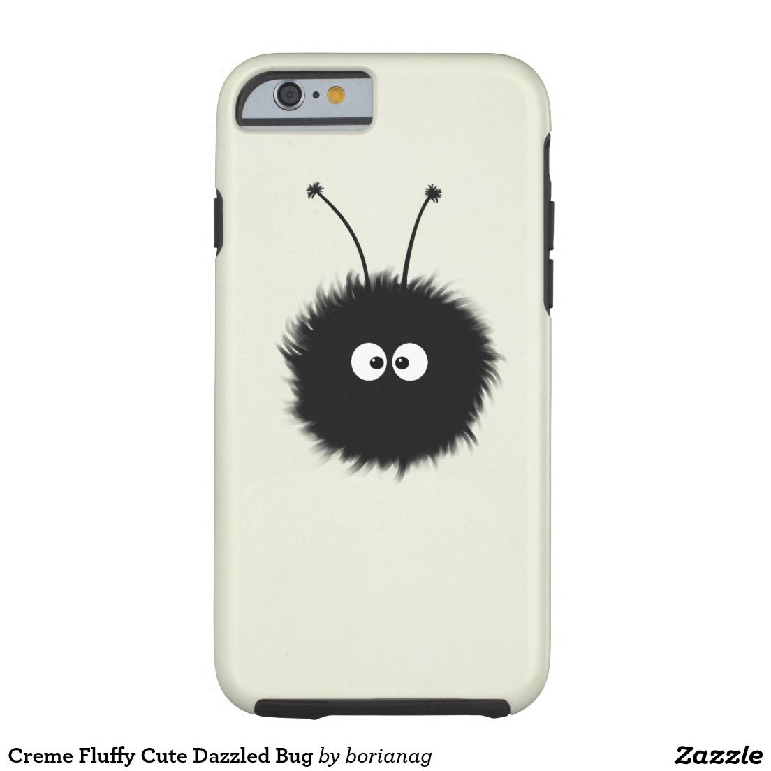 Creme Fluffy Cute Dazzled Bug Barely There iPhone 6 Case