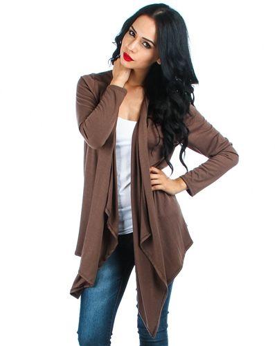 Size     Size #Small #Medium  #Large        Mocha plus size draped cardigan.  Made in U.S.A  95% Rayon 5% Spandex