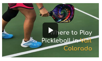 Short Video About Where To Play Pickleball In Vail Colorado Pickleball Vail Thinkvail Pickleball Ball Exercises Paddle Sports