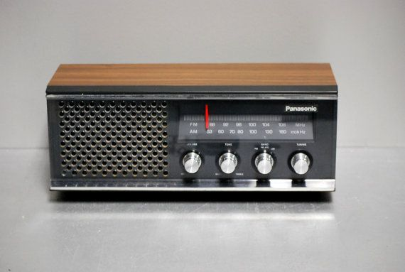 60s 70s Panasonic Am Fm Radio Counter Top Model Re 6513 Works