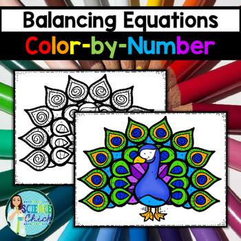 Balancing Equations Color-by-Number Number activities, Equation - balancing equations worksheet template