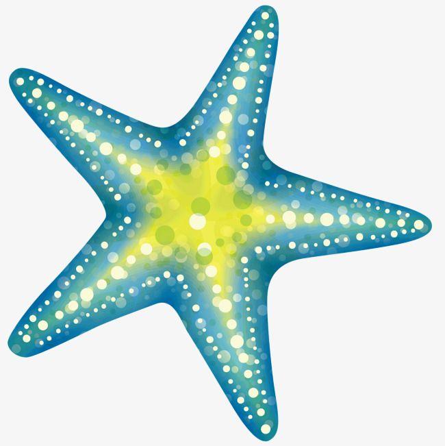 A Blue Starfish Mermaid Sticker Starfish Mermaid Cartoon
