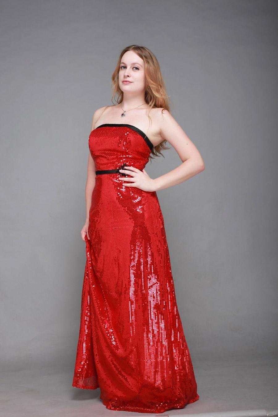 Elegant Strapless Beading A-Line Split Front Evening Dress