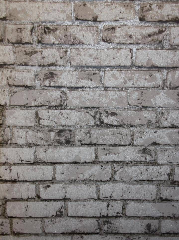 Best Brick Silver Textured Wallpaper For Bedroom Love It 400 x 300