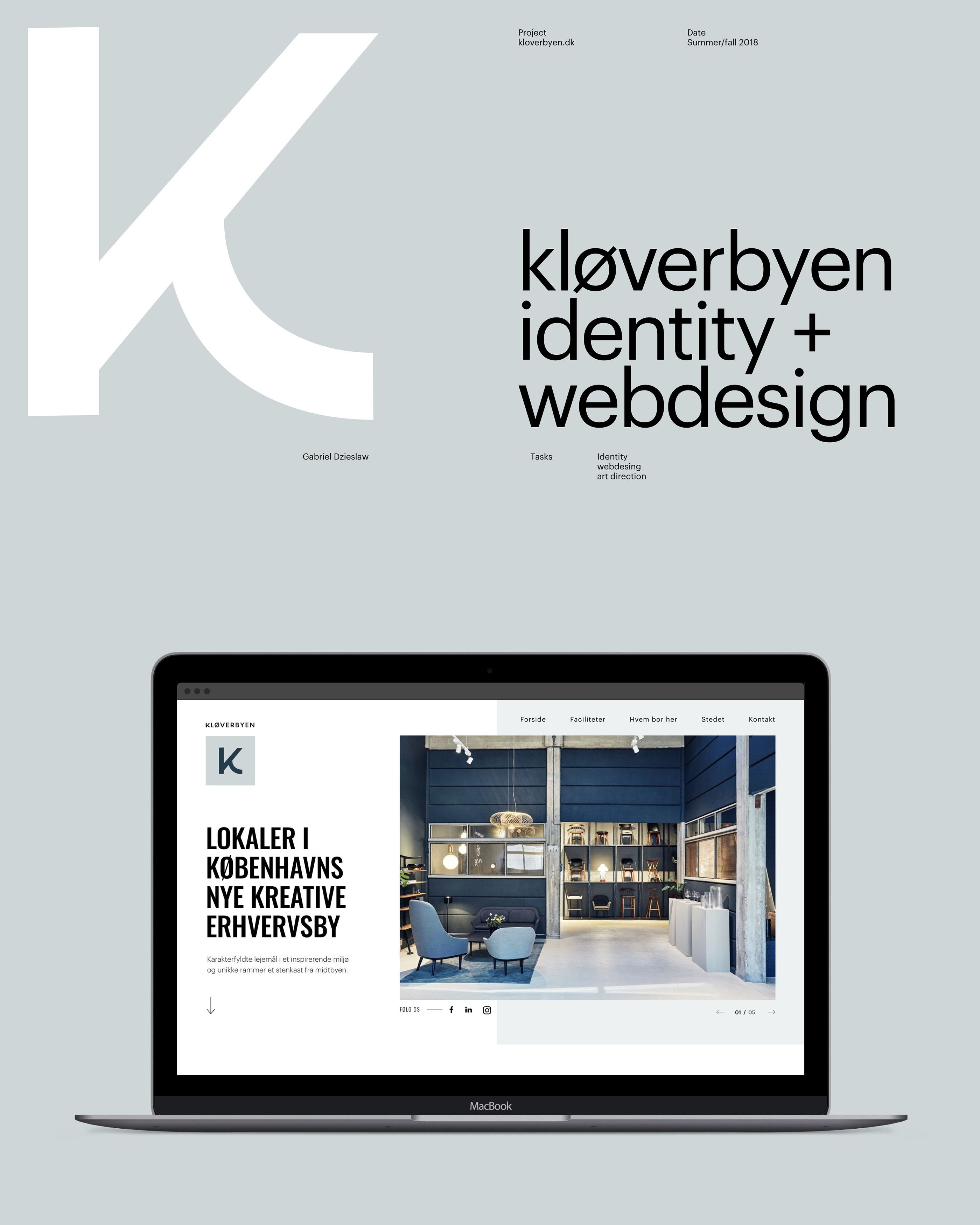 Kloverbyen On Behance Web Design Creative Hub Sketch App