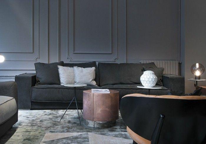 baxter sofa italienische couch budapest soft divano dunkelgrau
