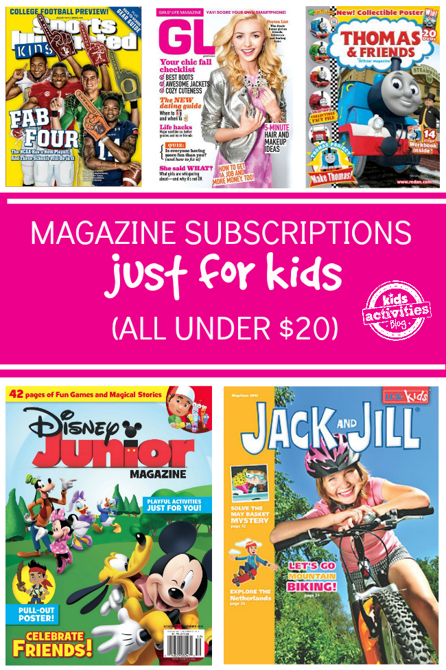 Magazine Subscriptions for Kids Under $20 | Kids - PLAY TIME