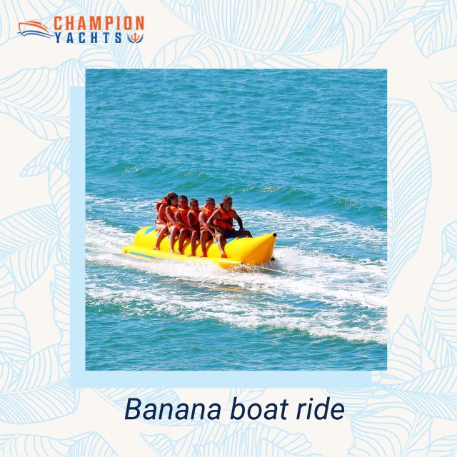 Banana Boat Ride In Dubai Water Sports Activities Boat Yacht
