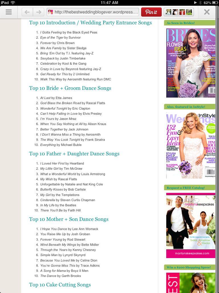 Wedding Songs Music List Vows Playlist Bells