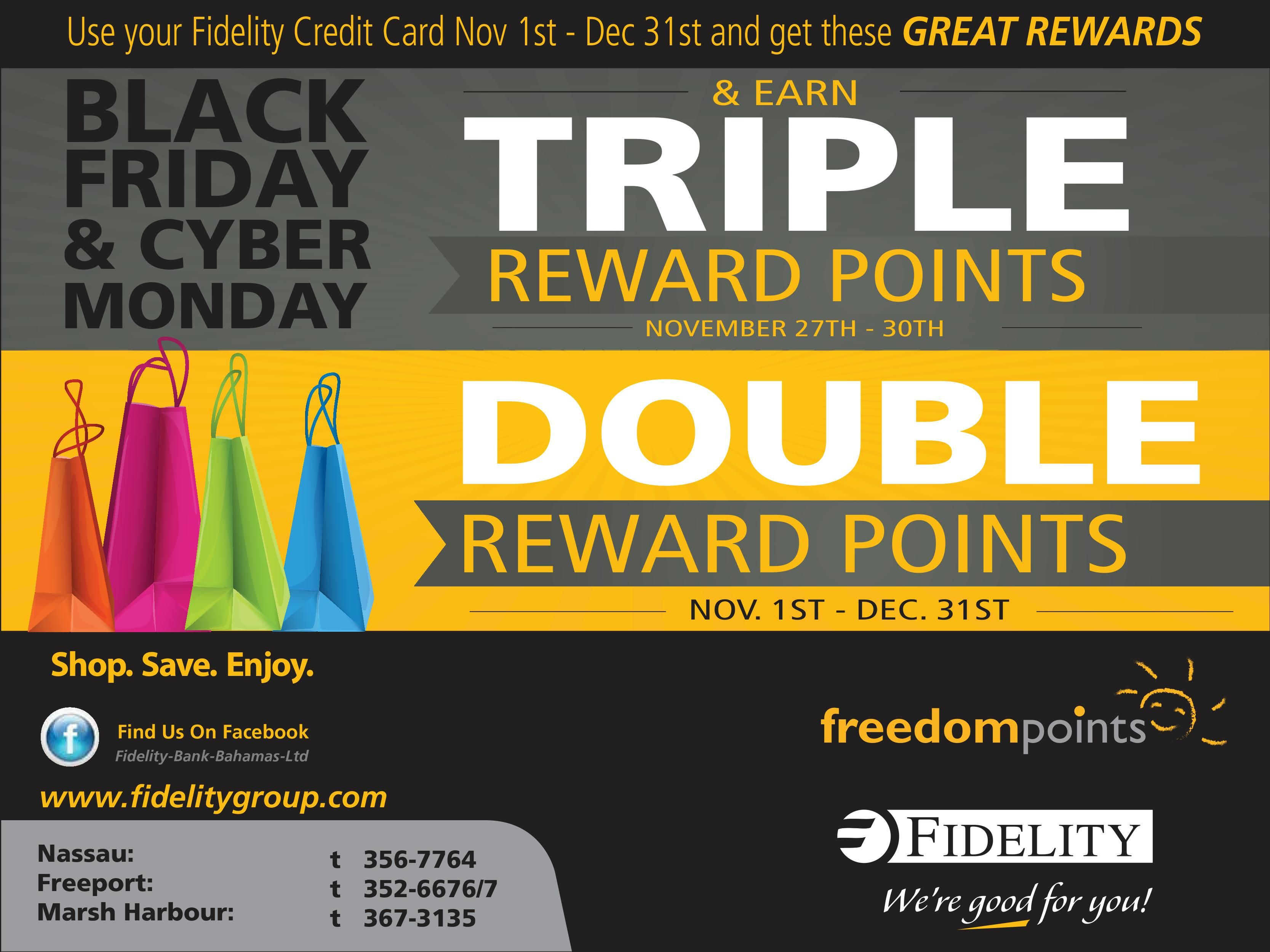 Use Your Fidelity Credit Card November 1st To December 31st And