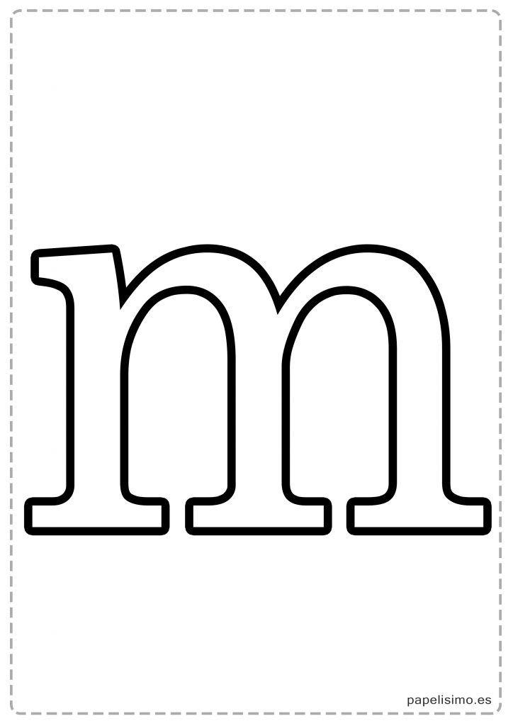 M-Abecedario-letras-grandes-imprimir-minusculas | Como decorar ...