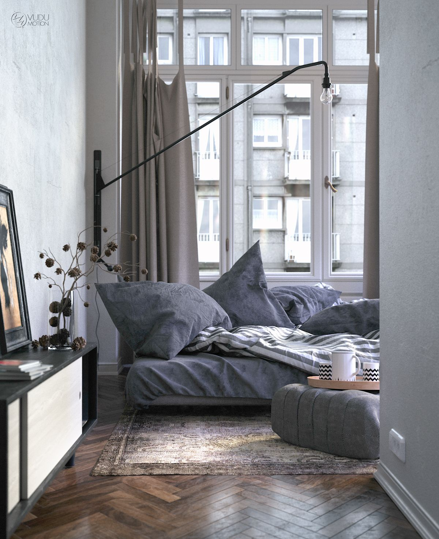 New bedroom interior design old bedroom on behance  ideen rund ums haus  pinterest  behance