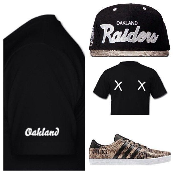 d64d7e9b41b Alexandro s Casa x Oakland  snakeskin  raiders  snapback  adidas  sneakers   tshirt  dope  hype  outfit