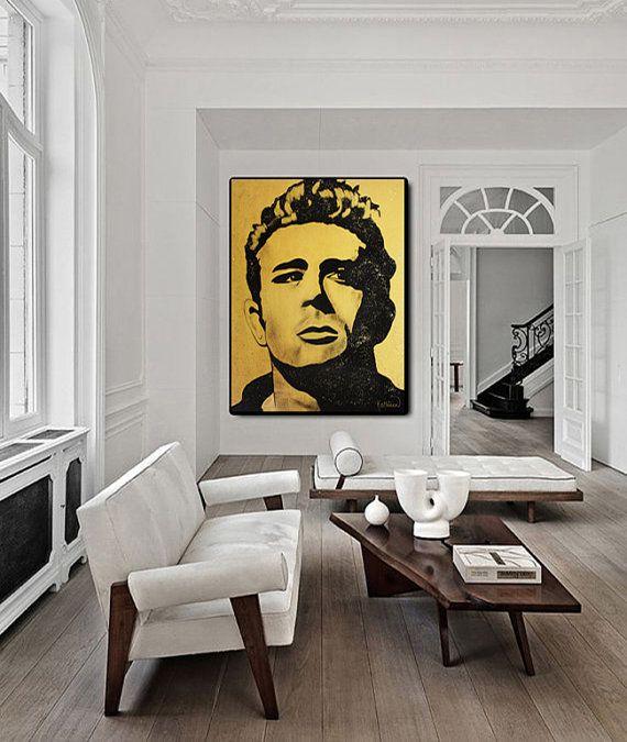 James DEAN, Living Room Wall Art, Acrylic Painting, Ready