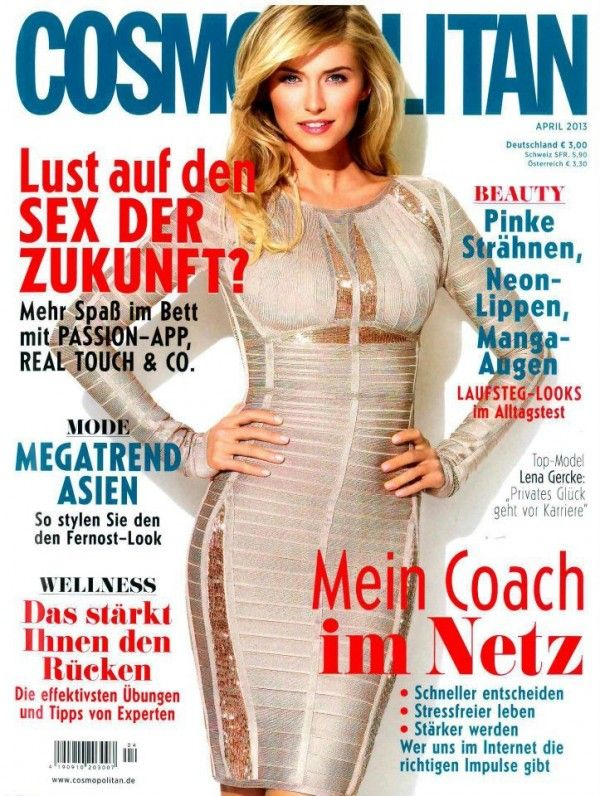 Lena Gercke Is Starring On The Cover Of Cosmopolitan