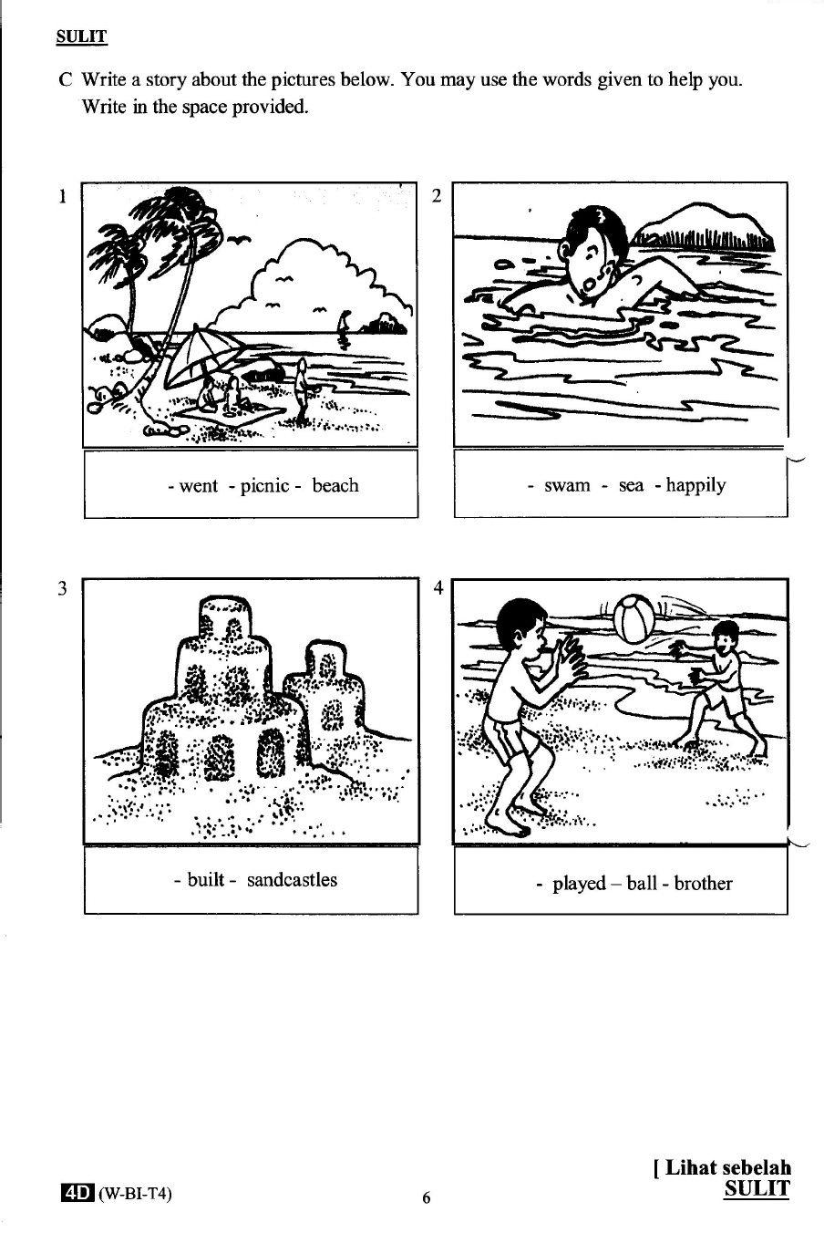 Pertengahan Tahun 2014 Tahun 4 Bi Kertas 2 Exam Papers Worksheets For Grade 3 Picture Composition [ 1352 x 904 Pixel ]