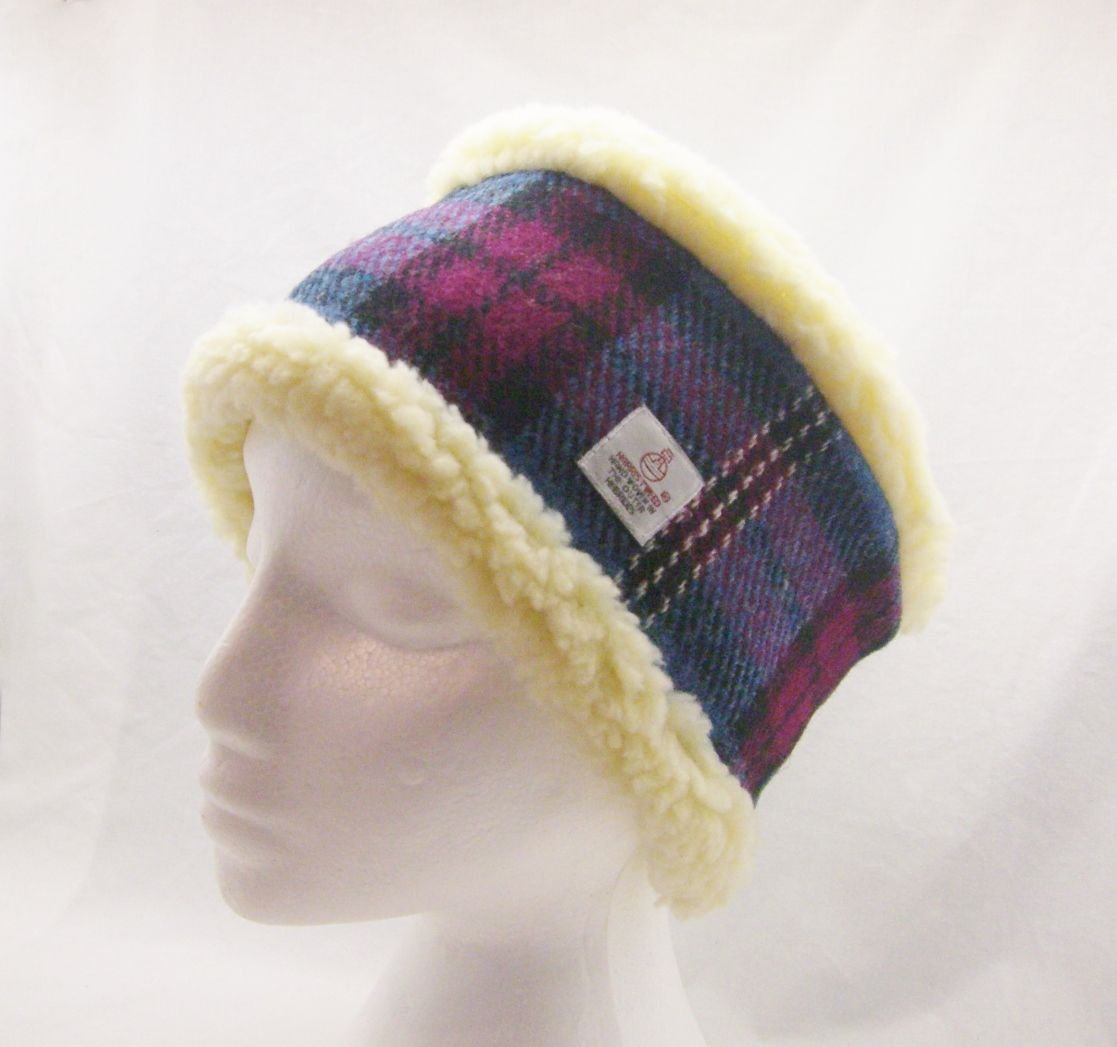 Harris Tweed Head Warmer lined in soft, faux sheepskin.  http://my.ebay.co.uk/ws/eBayISAPI.dll?MyEbay&gbh=1&CurrentPage=MyeBayAllSelling&ssPageName=STRK:ME:LNLK:MESX