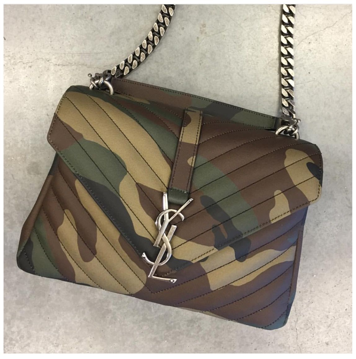 0aefda485a Saint Laurent Paris College Medium Camouflage. Saint Laurent Paris College  Medium Camouflage Camo Bag