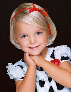 Precious Child - little girl - bows & pearls