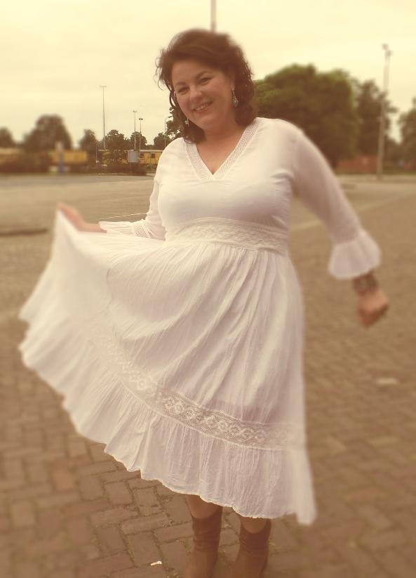 katoenen jurk wit