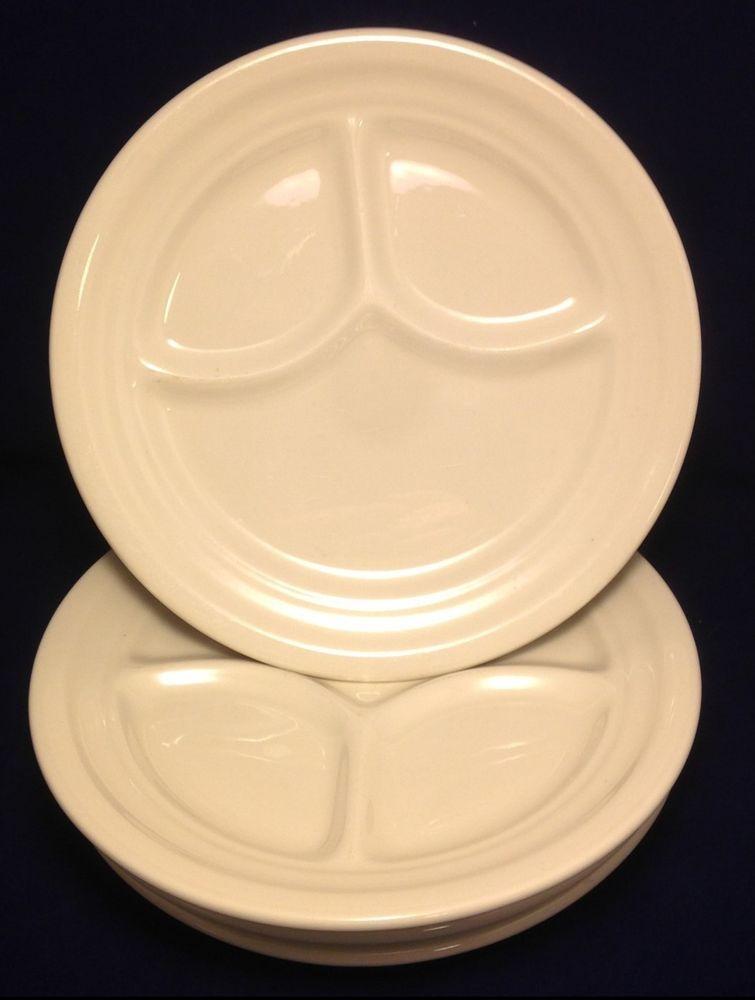 4 Homer Laughlin Best China Dinner Plates Divided White Restaurantware Vintage & 4 Homer Laughlin Best China Dinner Plates Divided White ...
