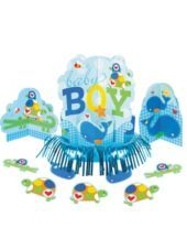 Ahoy Baby Boy Table Cover - Party City | Party city, Table ...