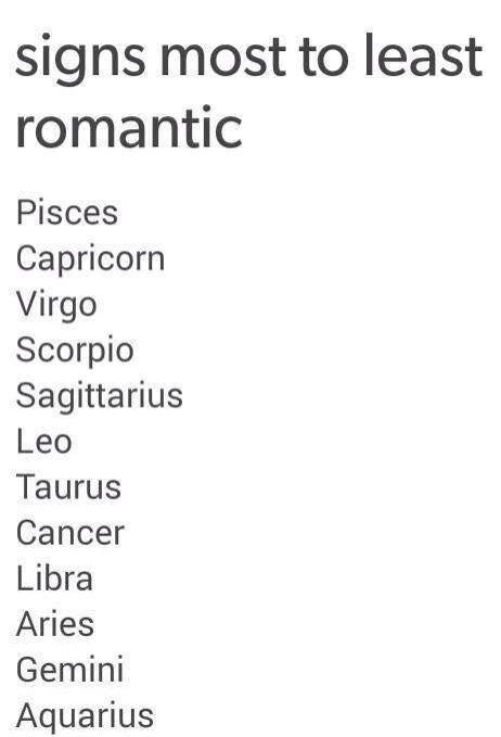 Most romantic horoscope sign