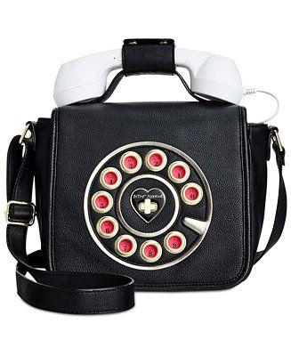 109bb153df Betsey Johnson Phone Crossbody - Handbags   Accessories - Macy s ...