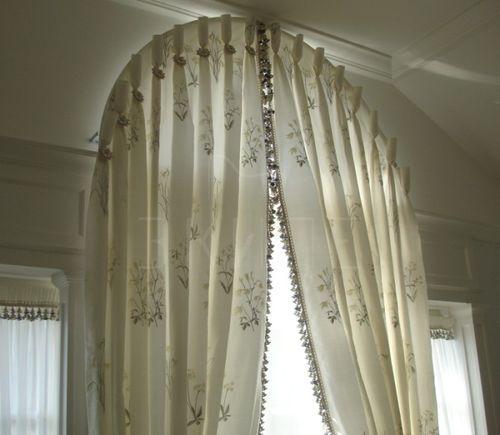 Арочные шторы своими руками