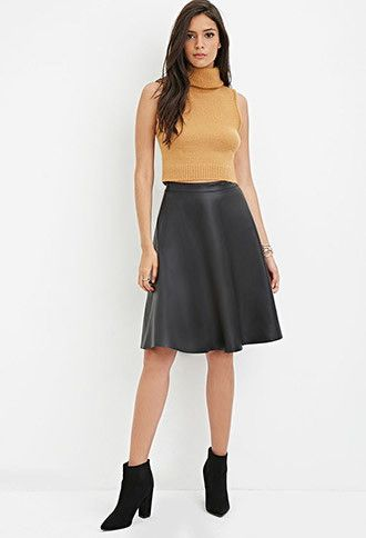 15d4f76133 Faux Leather A-line Skirt | Forever 21 - 2000174831 | steph's ...