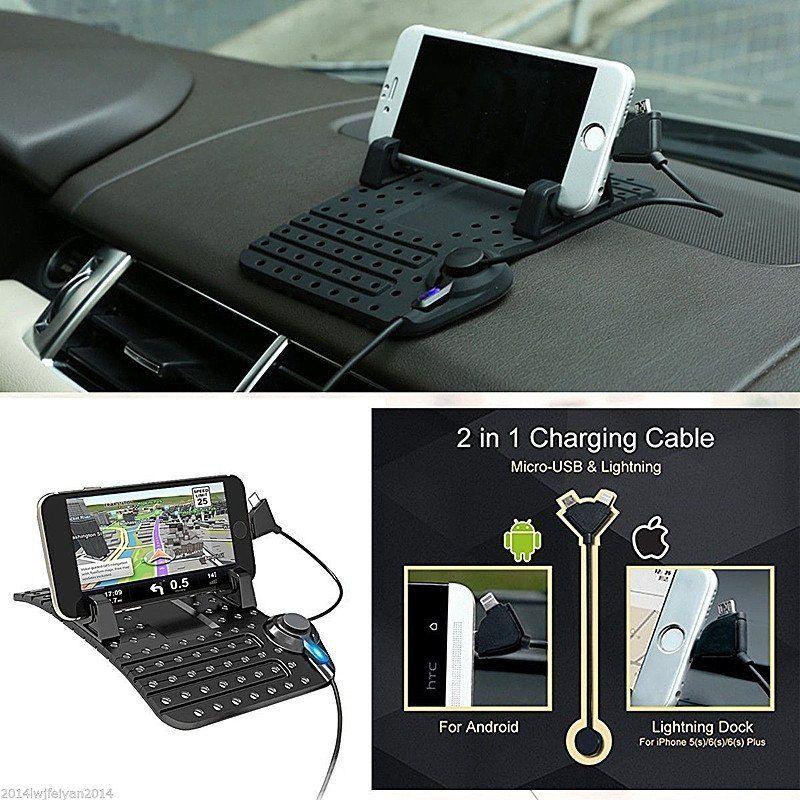 Car dashboard mount holder usb charger cradle for iphone android car dashboard mount holder usb charger cradle for iphone android smartphone gps fandeluxe Gallery