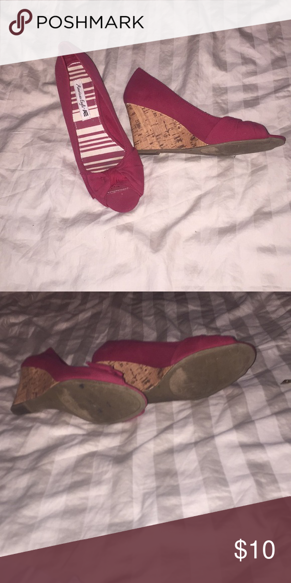 29426d4acf22 Red American eagle wedges Red knot style American eagle wedges American  Eagle By Payless Shoes Wedges