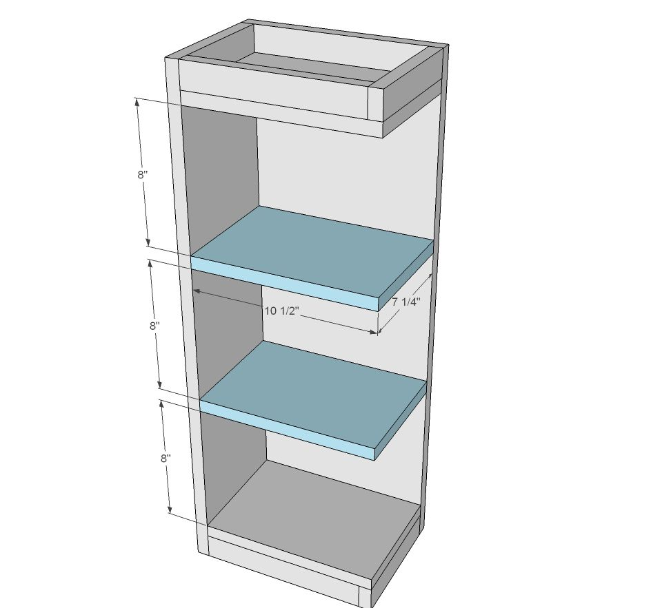 Kitchen Wall Cabinet Plans: Build A Open Shelf End Wall Cabinet