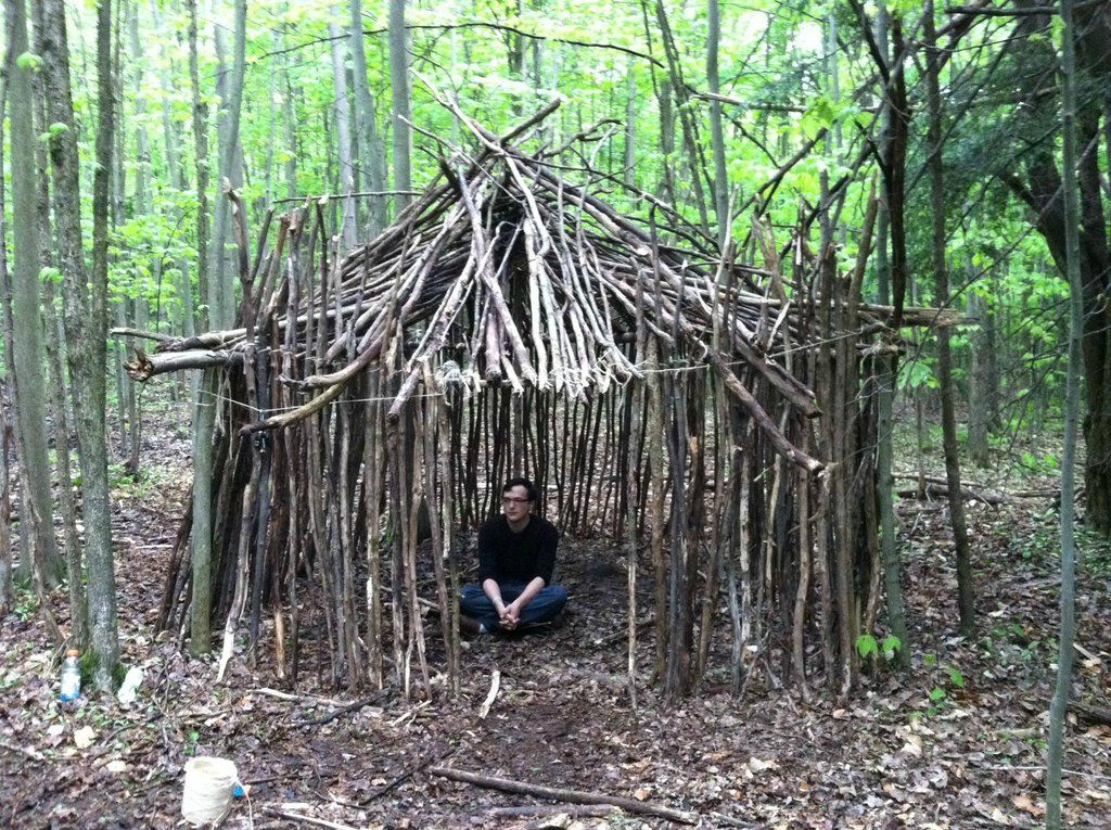Stick Fort   Backyard fort, Outdoor forts, Playhouse outdoor