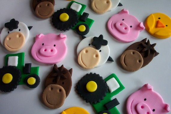 Farm cupcake toppers
