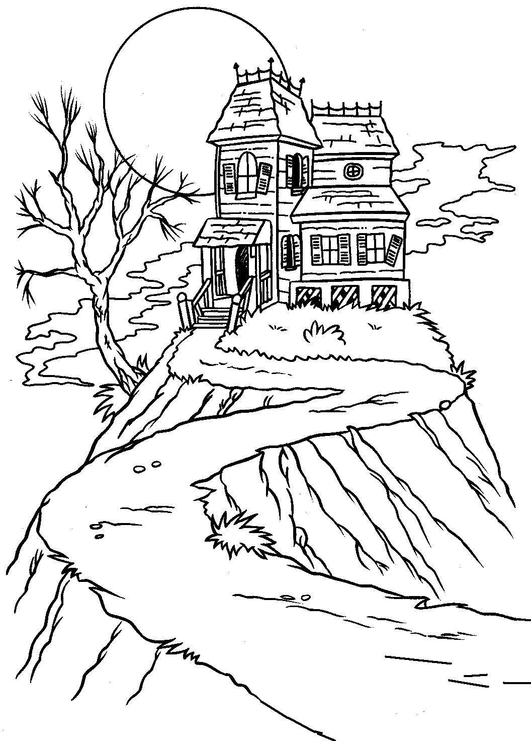 Halloween Coloring Pictures Lijntekeningen Eenvoudige Tekeningen Potlood Schetsen