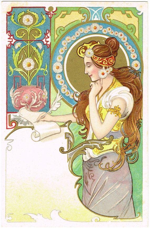 Прекрасная эпоха модерна открытки