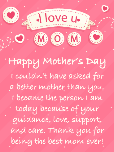 Pretty Hearts Happy Mother S Day Card For Mother Birthday Greeting Cards By Davia Happy Mothers Day Messages Happy Mother Day Quotes Mother Day Message